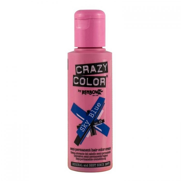 crazy colour sky blue