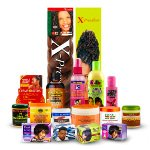 Hair and beauty products. Afro cosmetics